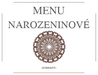 Hostinec Szumny Bielsko - MENU NAROZENINOVE